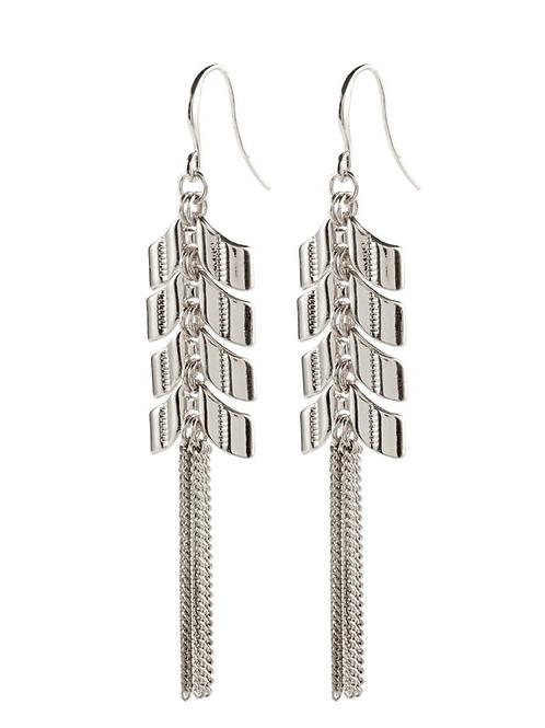 PILGRIM Earrings : Karla : Silver Plated