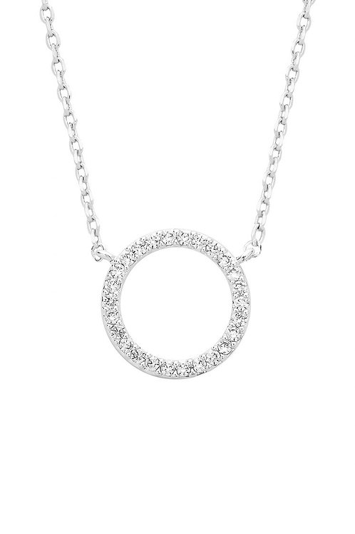 ESTELLA BARTLETT - Circle CZ Necklace Silver Plated