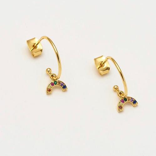 ESTELLA BARTLETT - Mini Rainbow Drop Earrings Gold Plated