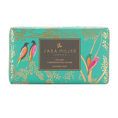 SARA MILLER - GREEN BIRDS SCENTED SOAP - FIG, VETIVER & GRAPEFRUIT