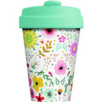 Bamboo Cup Prairie Flowers 400ml