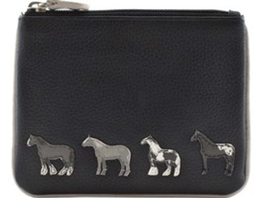 Mala Leather Horse Coin Purse - RFID protected