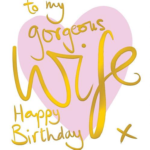 Wife birthday