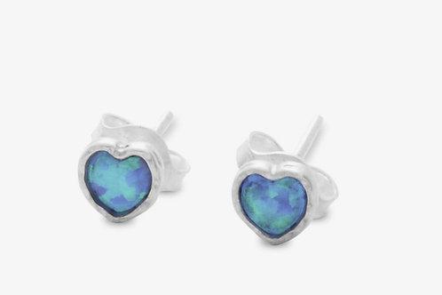 Banyan Opalite heart stud earrings