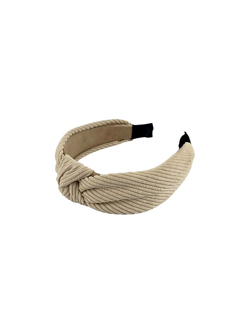 BLACK COLOUR - LINA twisted headband creme