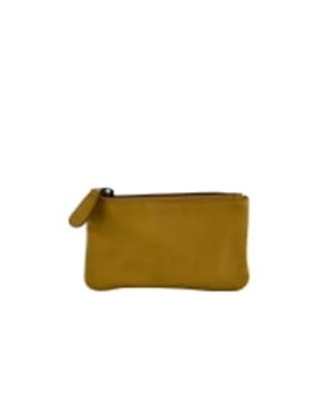 BLACK COLOUR DK - mini wallet yellow