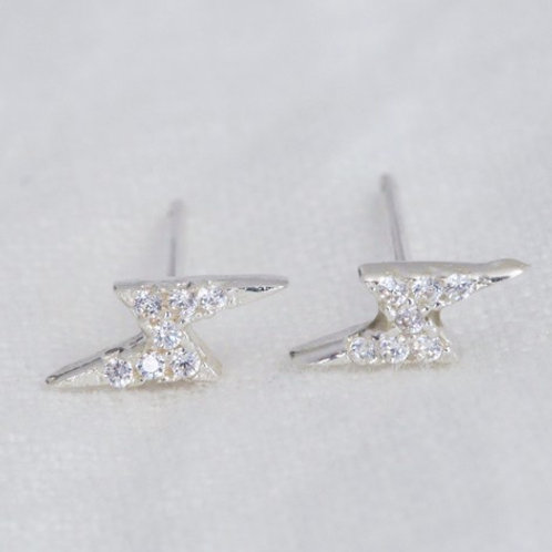 Lisa Angel - Crystal Lightening Bolt Stud Earrings