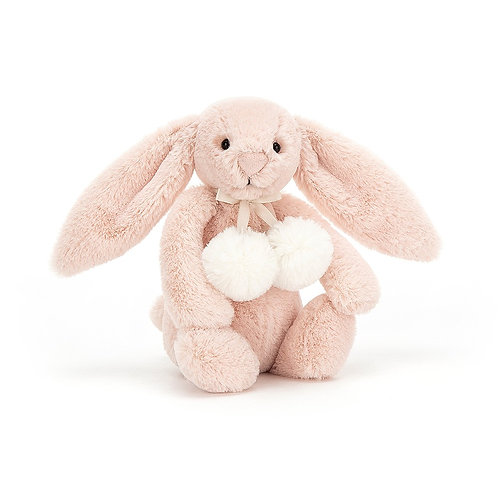 Blush Snow Bunny Pompom