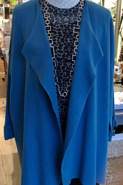 Coatigan - Turquoise Blue
