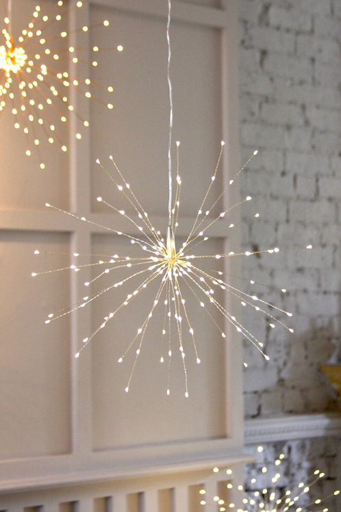 Starburst battery operated lights (Silver)