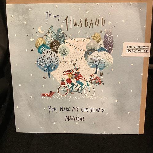 To my husband you make my Christmas magical
