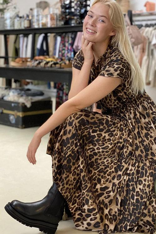 BLACK COLOUR dk leopard print dress 12-14