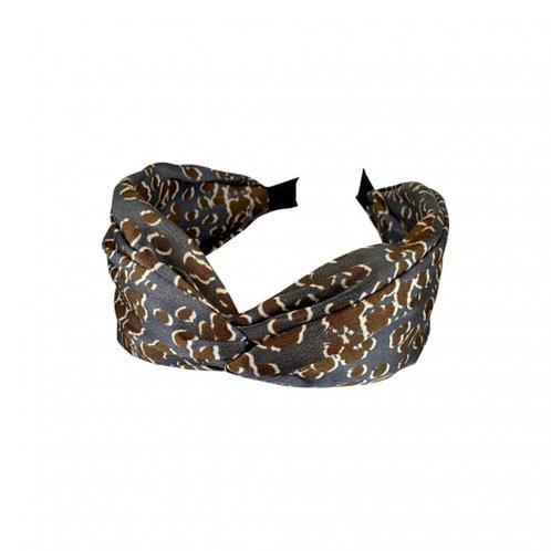 BLACK COLOUR DK - LEO grey satin headband