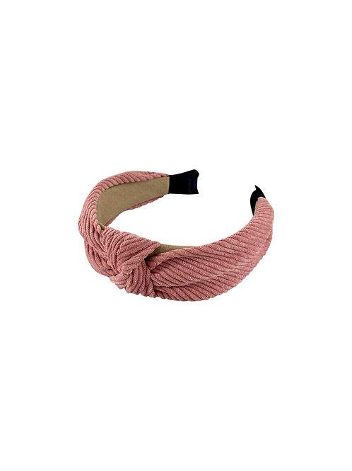BLACK COLOUR - LINA twisted headband rose