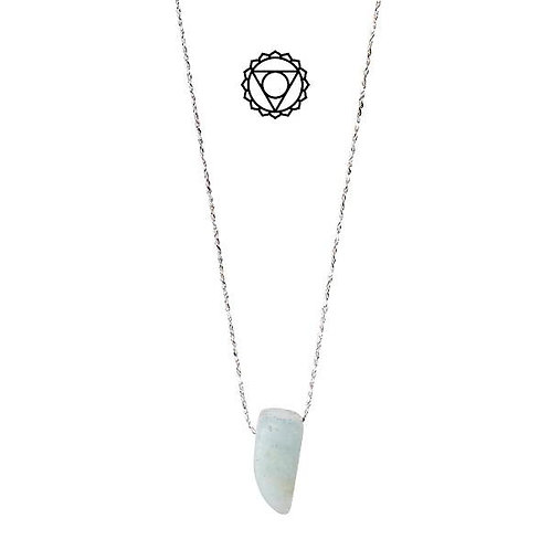 PILGRIM Necklace : Throat Chakra : Silver Plated : Amazonite