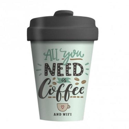 BAMBOO CUP - COFFEE & WIFI