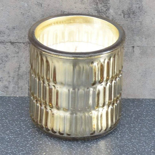 Round Embossed Wax Filled Pot Candle Prosecco Scent 320g