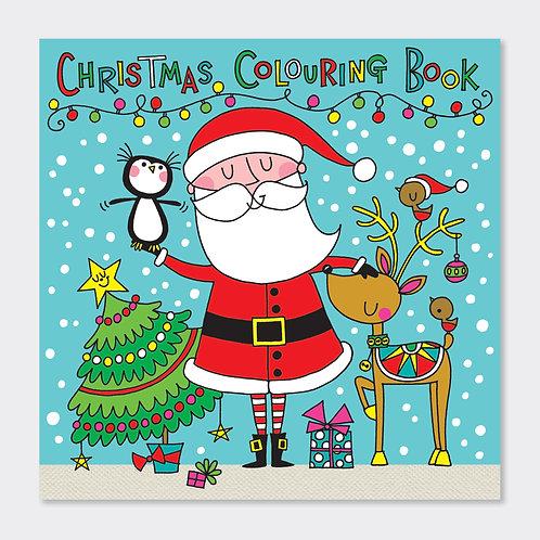 RACHEL ELLEN -  SQUARE COLOURING BOOK – CHRISTMAS SANTA SCENE