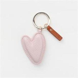 Caroline Gardner - Pale Pink Heart Keyring
