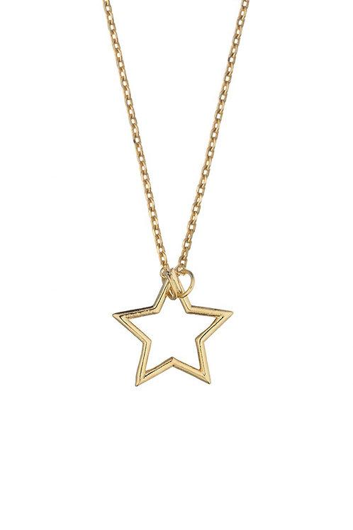 ESTELLA BARTLETT - Open Star Necklace Gold Plated