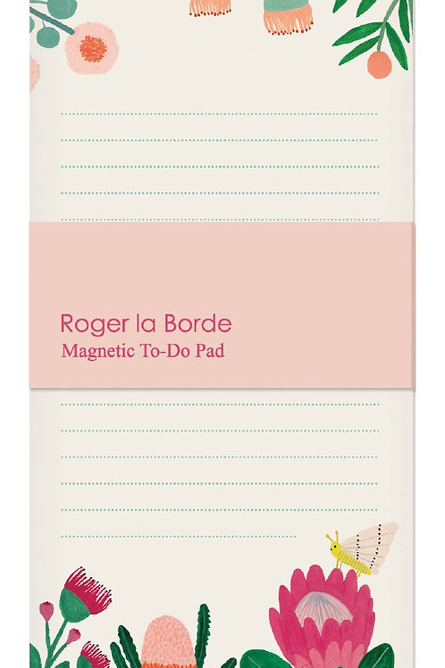 ROGER LA BORDE - King Protea Magnet Notepad