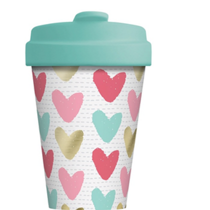 Bamboo Cup Hearts