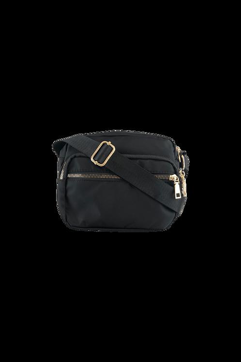 BLACK COLOUR VIGGY nylon bag black