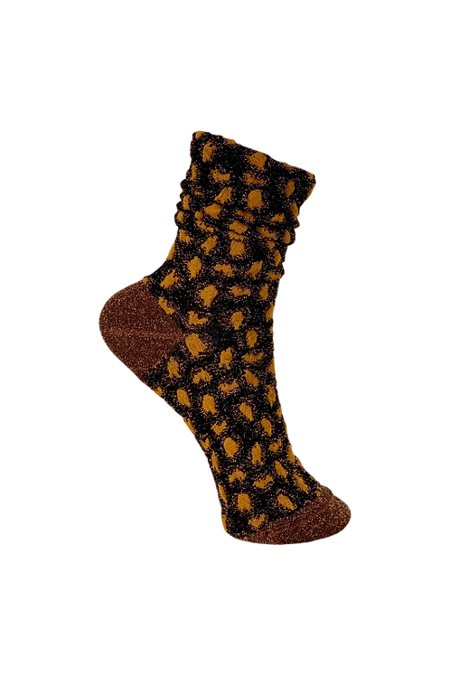 BLACK COLOUR Dk - Leo Bubble Sock
