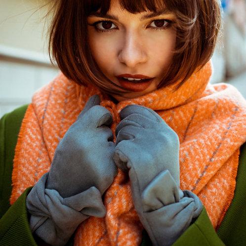 POWDER - Denim Faux Suede Gloves
