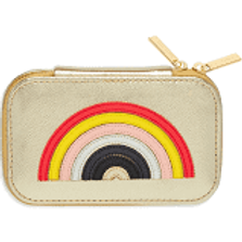 ESTELLA BARTLETT Rainbow Appliqué Mini Jewellery Box Gold Rainbow