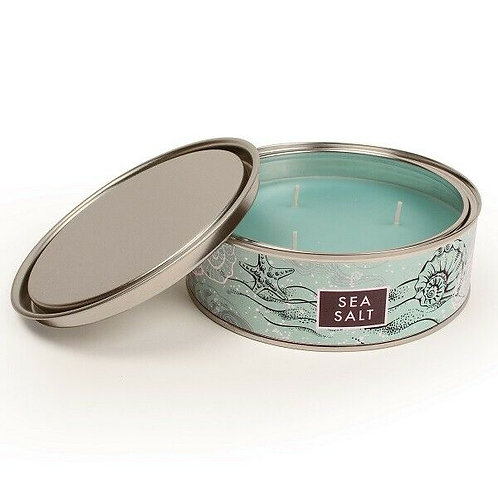 PINTAIL Elements Scented Large 3 Wick Tin Candle Pintail Candles Vegan - Sea Sal