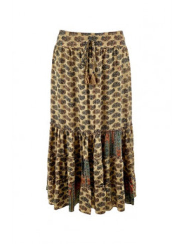 BLACK COLOUR -Luna boho skirt
