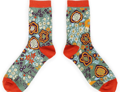 POWDER - Abstract Floral Ankle Sock