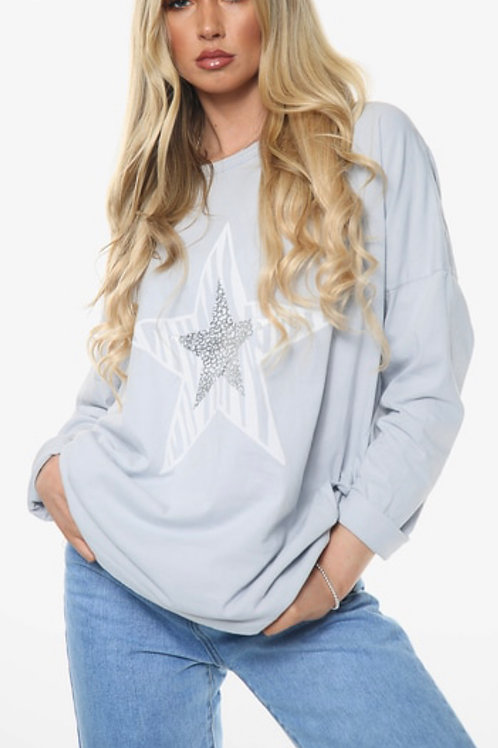 Double star graphic top