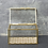 Thumbnail: Glass Jewellery Box with Fan Design Gold