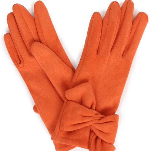POWDER - Tangerine Faux Suede Gloves