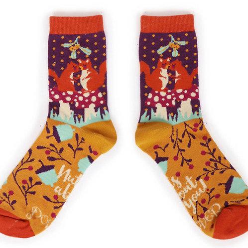 POWDER - Snogging Squirrels Ankle Sock