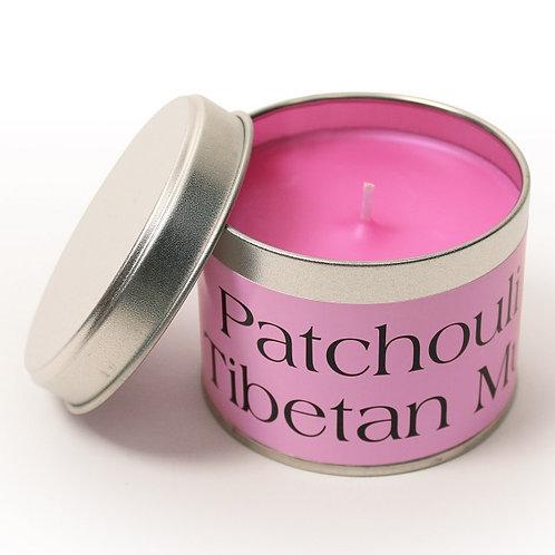 Pintail Candles Patchouli & Tibetan Musk Candle Tin