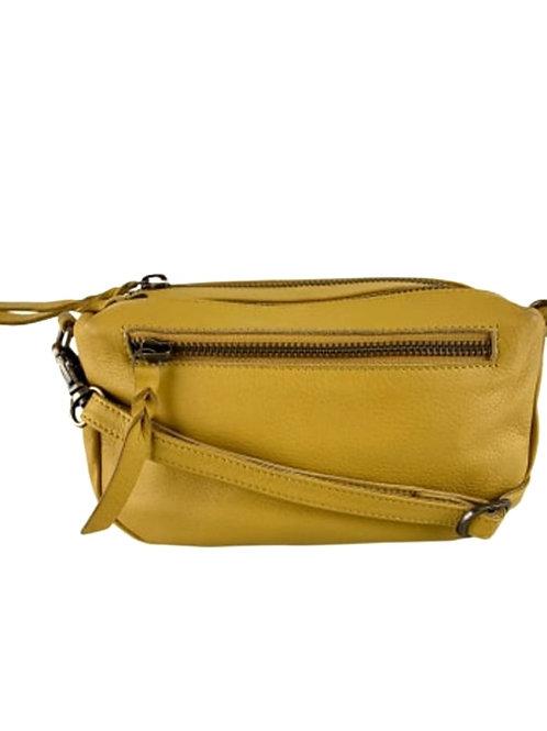 BLACK COLOUR Soft box bag yellow