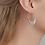 Thumbnail: PILGRIM Earrings : Kiku : Silver Plated