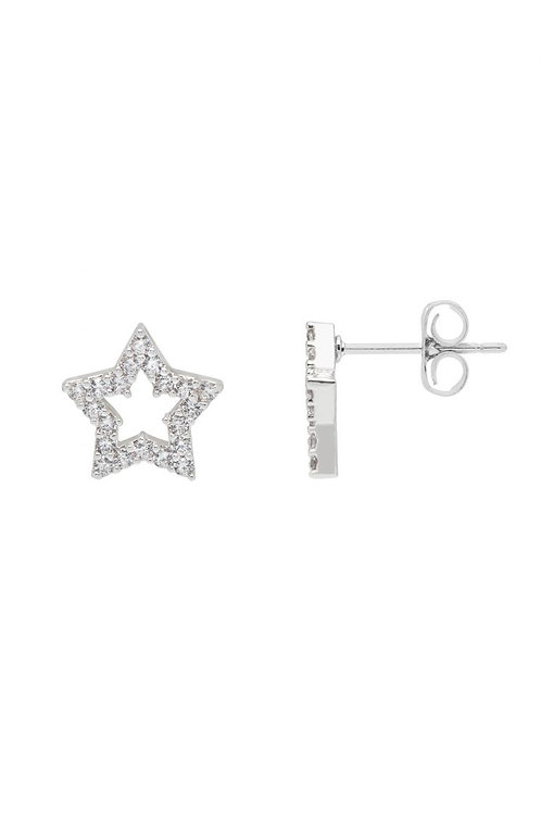 ESTELLA BARTLETT - Open CZ Star Earrings