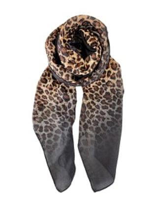 BLACK COLOUR ELONA leo scarf