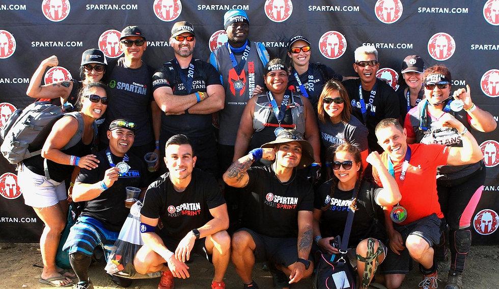 Mission Peak Spartans finisher photo at the Sacramento Spartan Super.