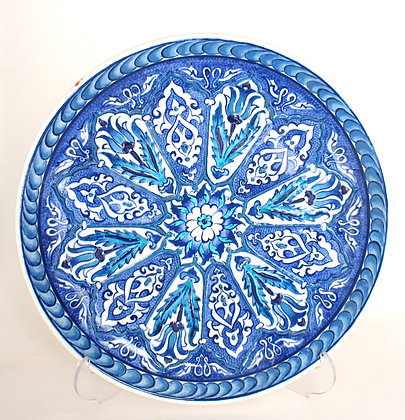 "Turkish Decorative Ceramic Plate 10"""