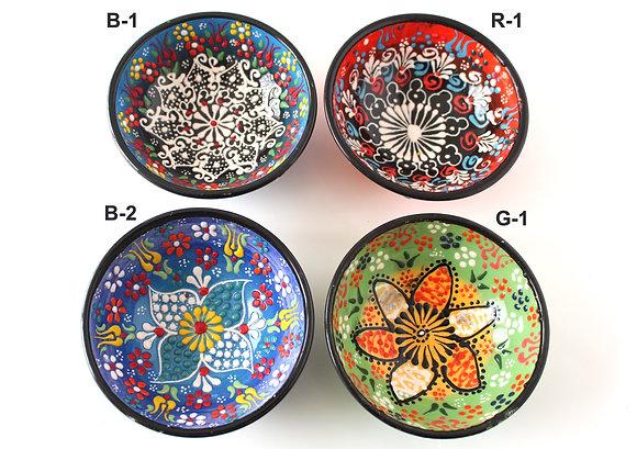 "Turkish Hand Painted Ceramic Bowl - Medium( 5"")"