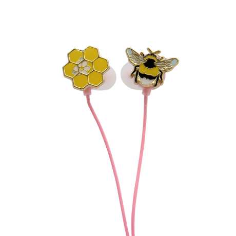 Bee enamel earbuds, first round of samples
