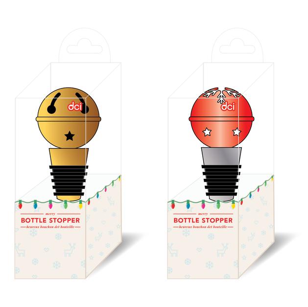 Jingle Bell Bottle Stopper