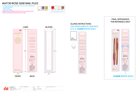 Package Specs: Nail Files