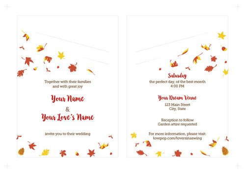 Fall Leaves Embellisments: First draft of inner layout