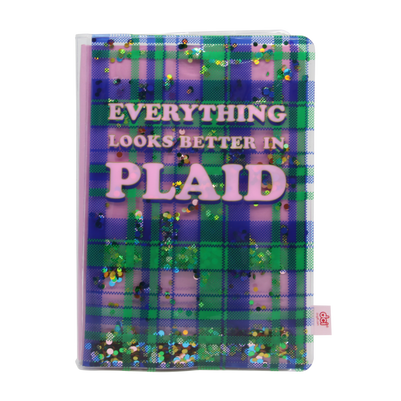 Plaid Glitter Journal: Final Product